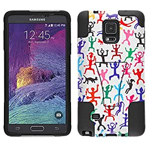 Samsung Galaxy Note 4 Hybrid Case Cave Painting 2 Piece Style Silicone Case Cover with Stand for Samsung Galaxy Note 4
