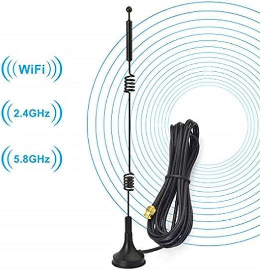 Antenne Omnidirectionnelle 3G GSM 4G 2,4 GHz et 5,8 GHz MAGFUN Antenne SMA Antenne 4G LTE /à Gain /éLev/é 9DBi WiFi Double Bande