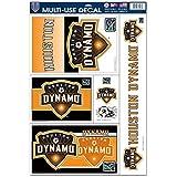 WinCraft Soccer Houston Dynamo Multi Use Decal, 11 x 17, Black