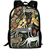 CY-STORE Fantasy Animals Outdoor Shoulders Bag Fabric Backpack Multipurpose Daypacks For Adult