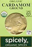 Spicely Organic Cardamom Ground - Compact