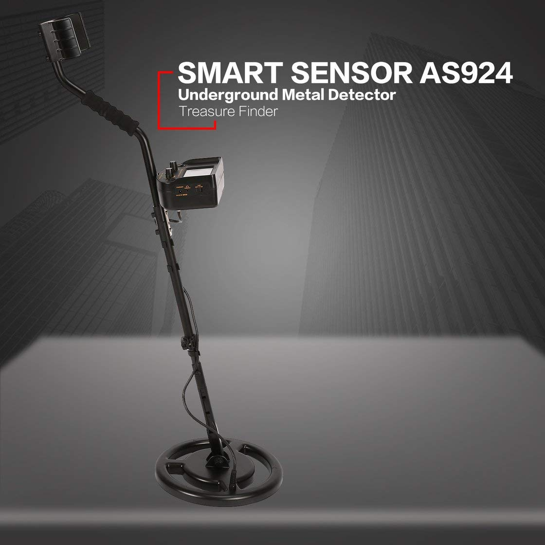 SMART SENSOR AS924 Detector de metales subterráneo profesional Buscador de plata dorado ajustable Buscador de cazadores de tesoros 2.5m de profundidad: ...