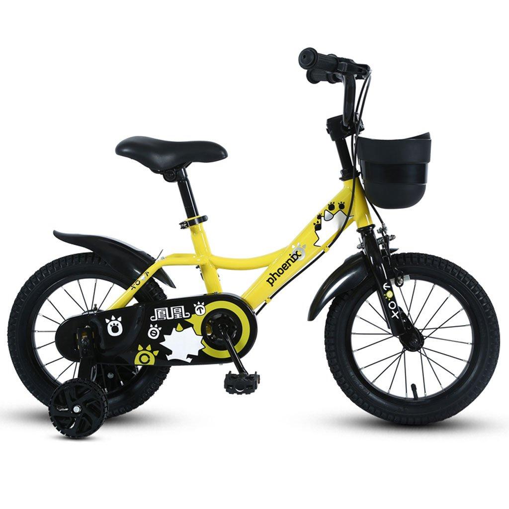 子供の自転車3-5-7-9歳の男の子のサイクリング14/16/18インチ子供の三輪車のマウンテンバイクイエロー ( Size : 14 inches ) B07DS47HWV