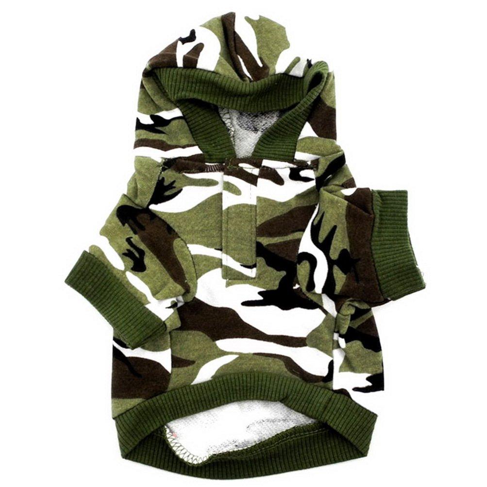 color verde dise/ño de camuflaje Sudadera con capucha para hombre Zunea