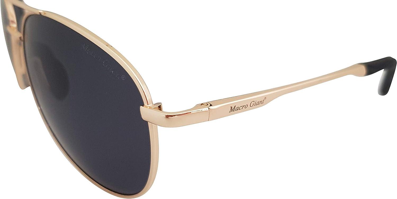 Polarized 100/% UV protection Macro Giant Classic Aviator Sunglasses