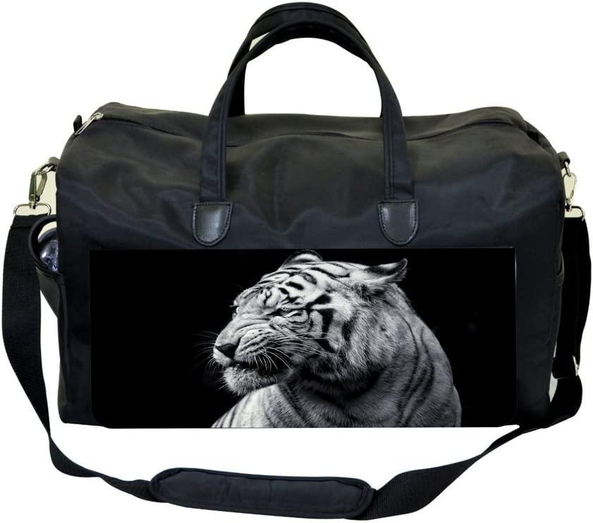 Black and White Tiger Sports Bag