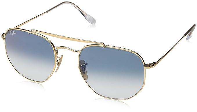 8f18b4a4fda60 RAYBAN Unisex s 0RB3648 001 3F 54 Sunglasses, Gold Clear Gradient Blue