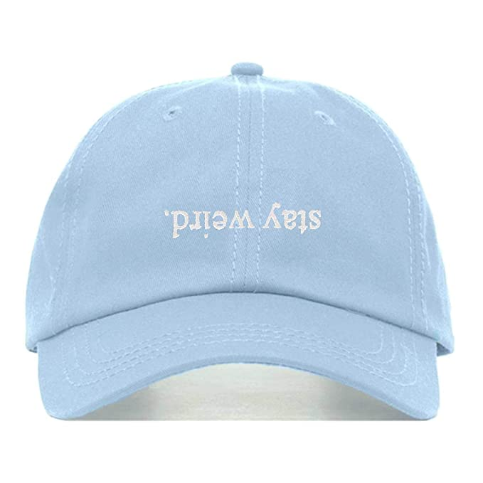 410ea27bcb7 Amazon.com  Stay Weird Dad Hat