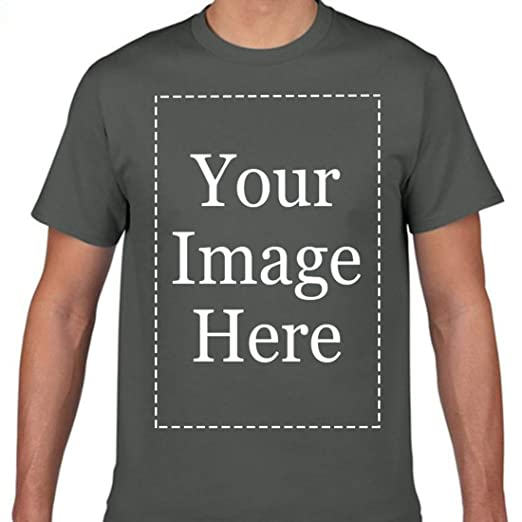 df899228 Add Your Own Custom Text Name Image Or Message Personalized Men's T-Shirt  Asphalt S