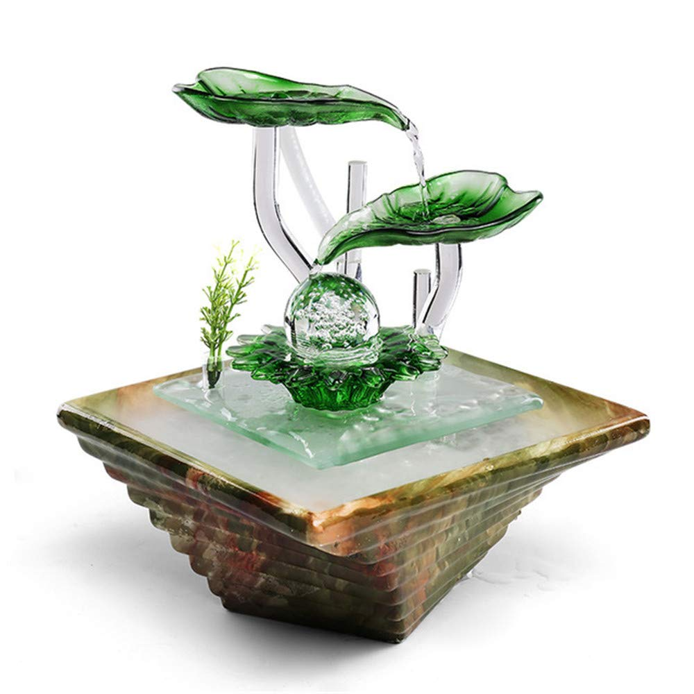 Ceramic Fountain Ornaments Living Room Glass Water Features Humidifier Decoration