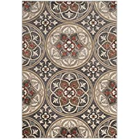 Safavieh Lyndhurst Collection LNH341A Light Grey and Coral Runner, 23 x 6