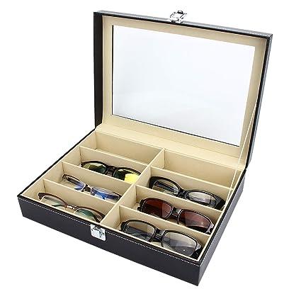 Genial Amazon.com: Mochiglory PU Leather 8 Slots Eyeglass Storage Sunglass Glasses  Display Lockable Case Organizer: Home U0026 Kitchen