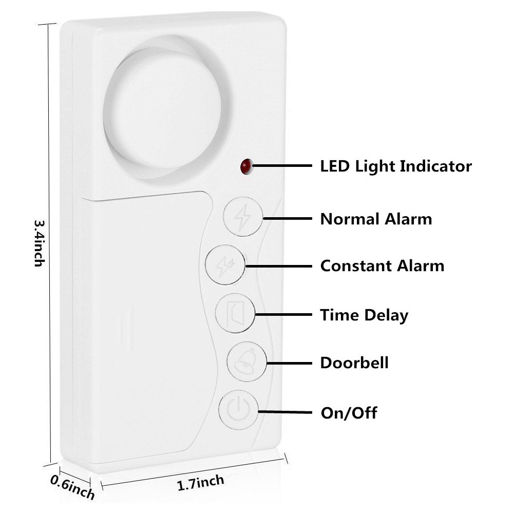 Wsdcam Door And Window Security Alarm Wireless Time Home Alarms Entry Circuit Delay Magnetic Triggered Open Chime For Diy Loud 108 Db