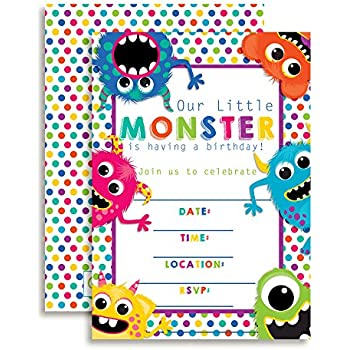 amazon com colorful cute friendly monsters birthday party