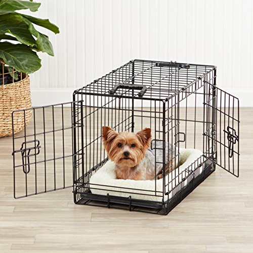AmazonBasics-Single-Door-Double-Door-Folding-Metal-Dog-Crate-with-Paw-Protector