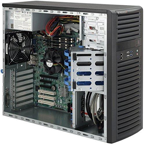 Supermicro SC732I-500B Midi-Tower Negro 500 W - Caja de Ordenador (Midi-Tower, PC, Metal, Negro, ATX,EATX,Micro ATX, Unidad de Disco Duro, Red, Poder, Sistema)