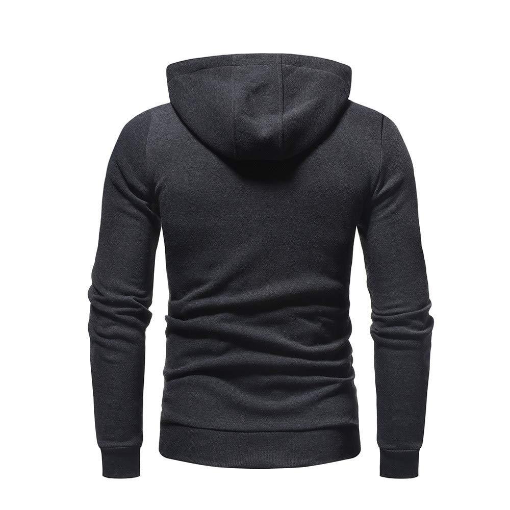 Sudadera con Capucha para Hombre, BBestseller Otoño Invierno Color Sólido Camiseta Calientes Chaqueta de Abrigo Blusa Pullover Streetwear Chándal: ...