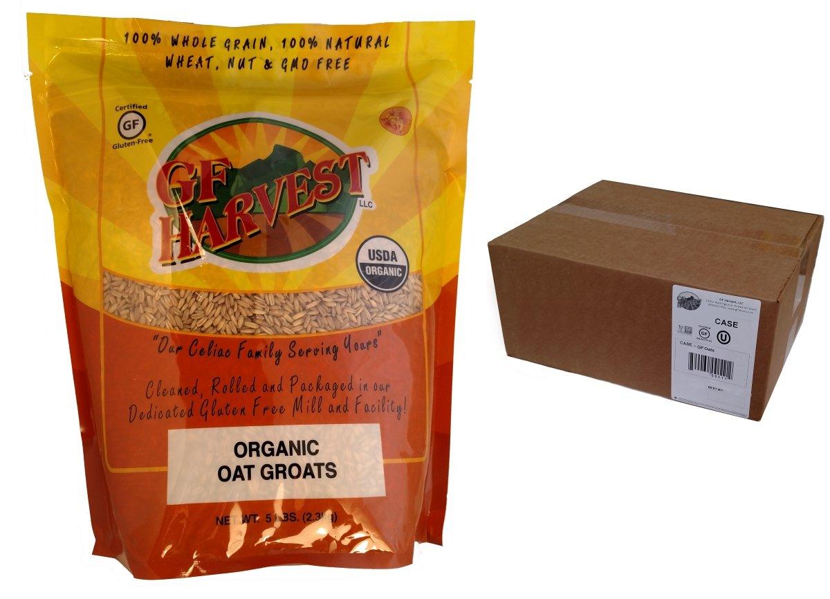 GF Harvest Gluten Free Organic Oat Groats, 5 lbs, 6 Count by GFHA0