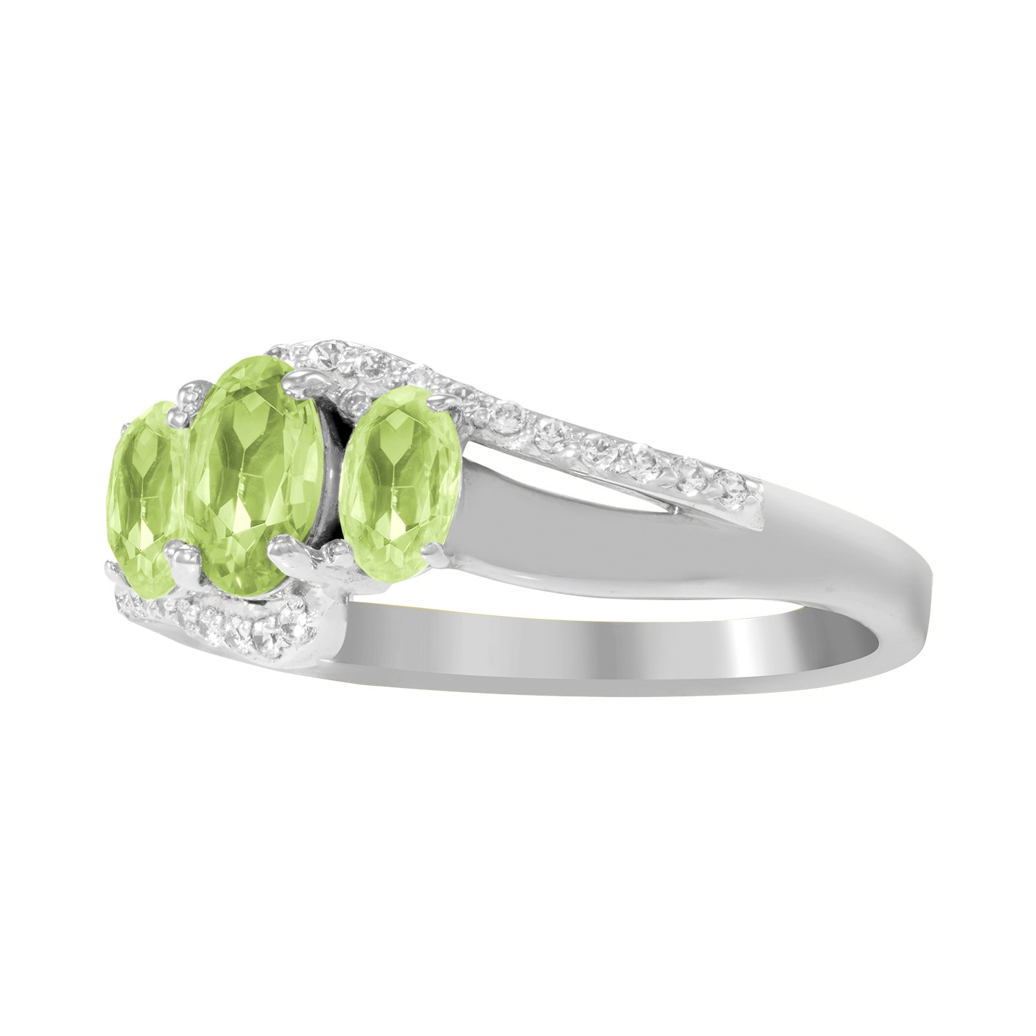 ArtCarved Beauty Custom Simulated Birthstone Womens Ring Sterling Silver Size 6 LQTRIO-SS-S-03-6