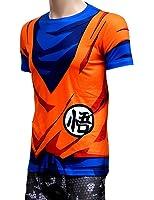 Brinny Hommes 3D T-shirt Classique Anime Dragon Ball Z Super Saiyan 3D T-shirt T-shirt de bande dessinée Vegeta Armour T