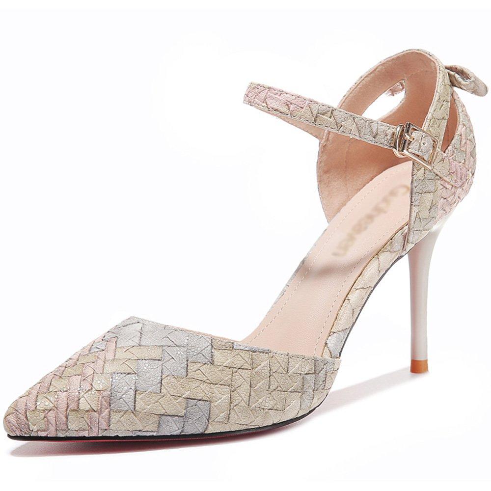 Sandalen Feifei Damenschuhe Mode Mischfarben Fein Mit Mit Mit Spitze Einzelne Schuhe 2 Farbe Optional (mit Hoch  8 cm) (Farbe   01, größe   EU36 UK3.5 CN35) B07CG5XFLF Tanzschuhe Billig ideal bfce70