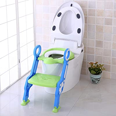 Dingji Baby Child Potty Toilet Trainer Seat Step Stool Ladder Adjustable Training Chair: Toys & Games
