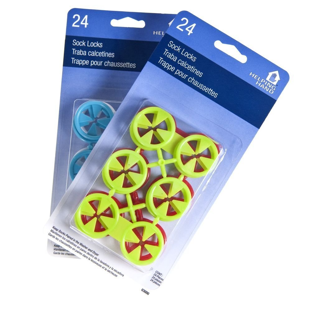 48ct Helping Hand Sock Locks Keep Socks Paired in Washer Dryer Laundry Wash Tool by Helping Hand SYNCHKG074526
