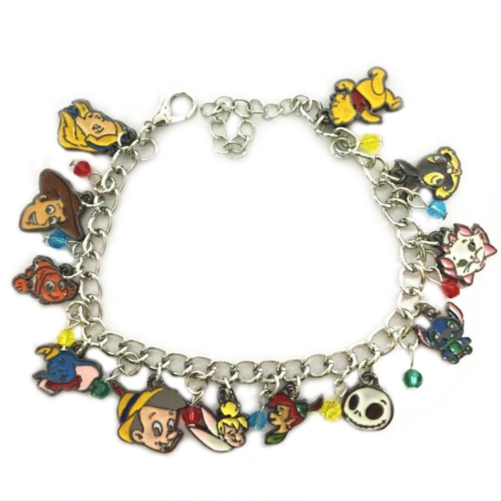 Superheroes Brand Disney's Classic Cartoon Characters Charm Bracelet w/Gift Box Movies Fairytale Cosplay Jewelry Series by