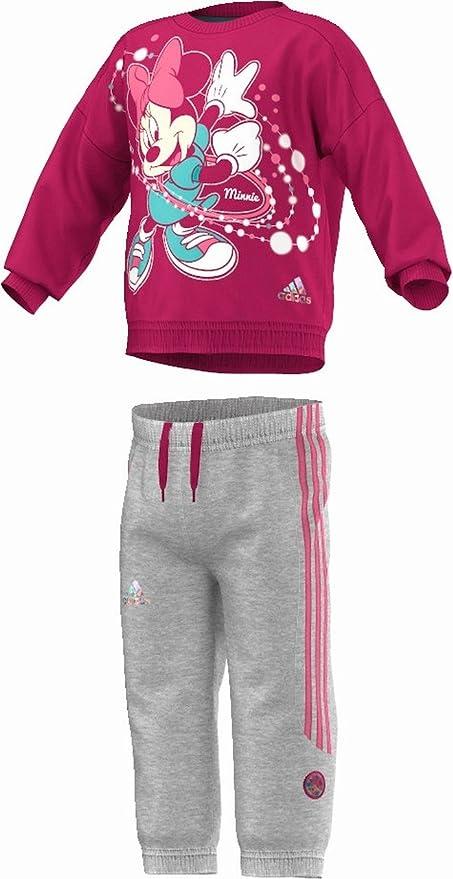 Adidas Minnie Chándal para niños pequeños, Color - Pink/Grau ...