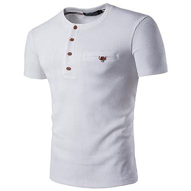 59dc9a45f1f4 CHENGYANG Hommes Couleur Unie Manches Courtes Moulante T-Shirt Slim Blouse Tee  Shirts  Amazon.fr  Vêtements et accessoires