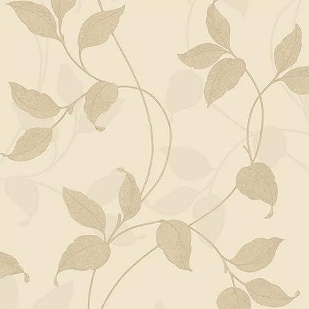 Arthouse Capriata Floral Leaf Pattern Glitter Metallic Textured Wallpaper Gold 290302