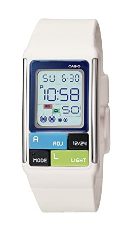 0b6fd6550 Image Unavailable. Image not available for. Color: Casio Women's LDF50-7CF  Pop Tone White Digital Watch