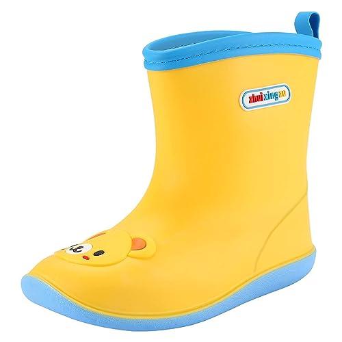 H-Mastery Botas de Lluvia Niña Niño Botines de Agua Impermeables con Goma Suela Antideslizante: Amazon.es: Zapatos y complementos