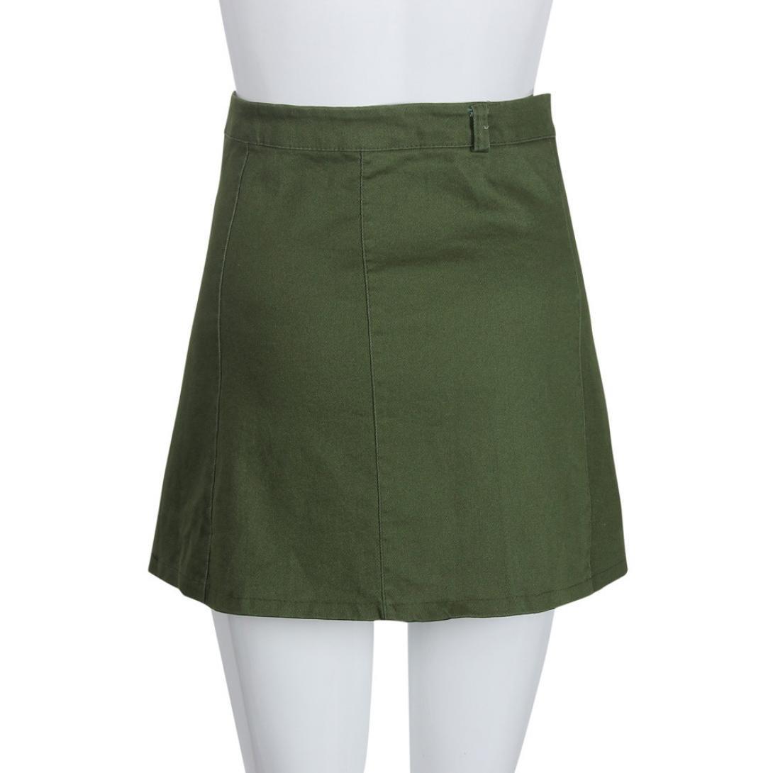 Wokee Fashion - Falda de Cintura para Mujer, Estilo Coreano, Falda ...