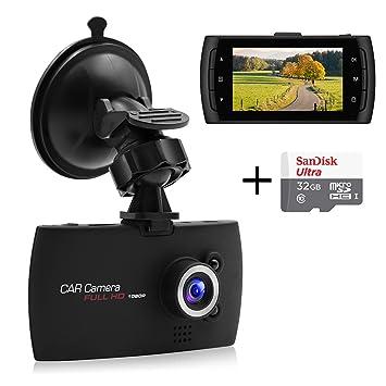 senwow Dash Cam (con 32 GB tarjeta) 1080P Full HD coche cámara 2,