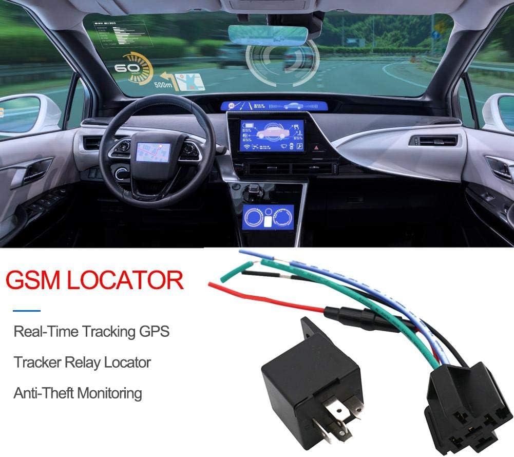 Rvest Localizzatore GPS per Auto Tracking antifurto Localizzatore di monitoraggio in Tempo Reale Global for Car Vehicle Motorcycle