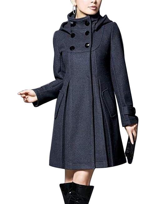 Fashion Espesor Abrigo Elegantes Largos Fiesta Invierno Mujer q8FR4p