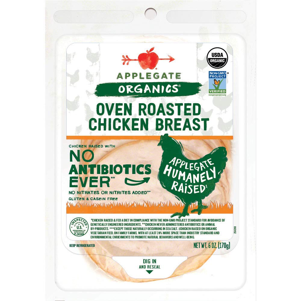 Applegate, Organic Oven Roasted Chicken Breast, 6oz