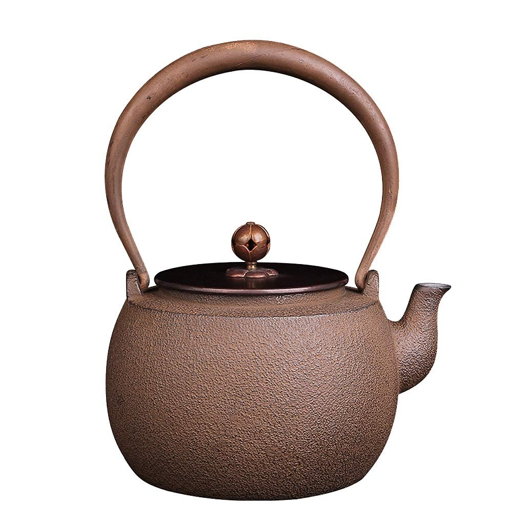 Vintage Teapot 1.3 Liter, Cast Iron Teapot with Infuser, Handmade Kettle, Safe and Healthy, Suitable for Induction Cooker, Electric Ceramic Stove, Charcoal Stove, Gas, Etc
