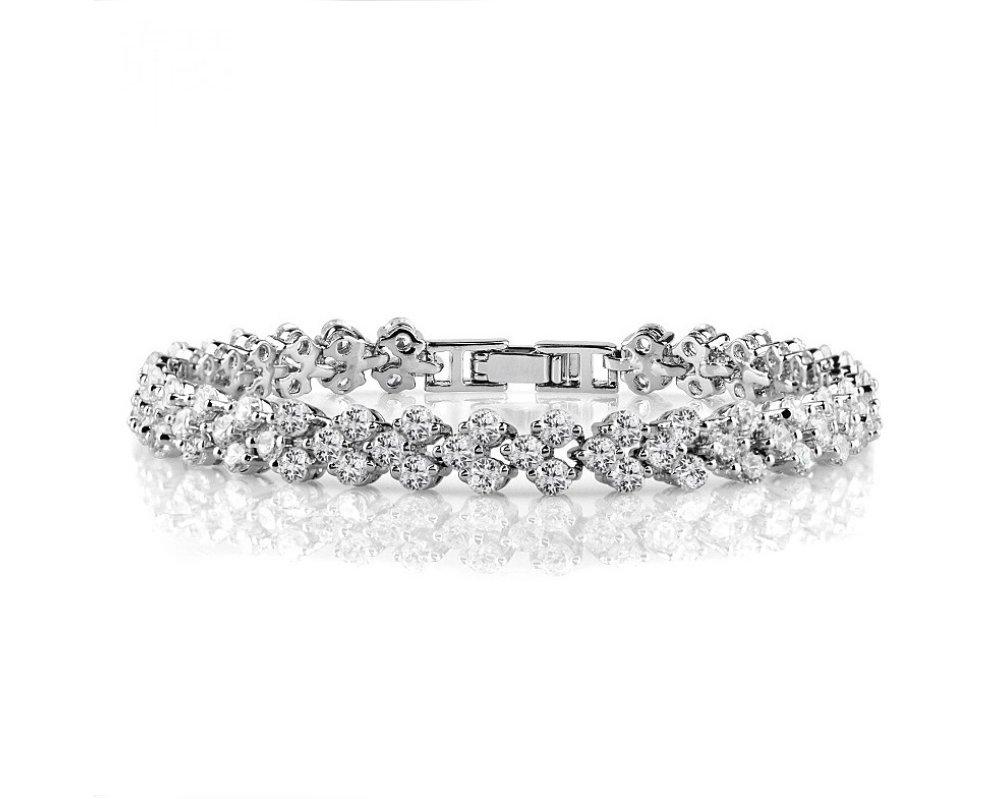 Best Tennis Bracelet 7.5 Inch in Existence. White Cubic Zirconia CZ Lightweight Silver Bracelet for Women. Bridal/Wedding Jewelry. Guaranteed!