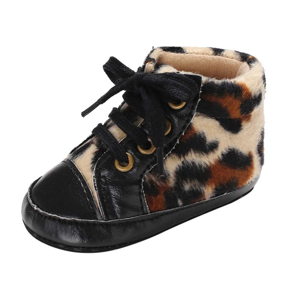 LiucheHD Stivali Neonato Bimbo Ragazze Scarpe da Bambino Leopardo Stampare Stivaletti Short in Pelle Ragazzi Stivaletto Scarpe Invernali Scarpine per Bambini Sneakers 1