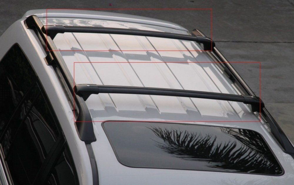 Install Instructions Steps in The Picture Nova for 13 14 15 16 17 Toyota RAV4 Black OE Style Roof Rack Cross Bars Set Luggage Pair Aluminum
