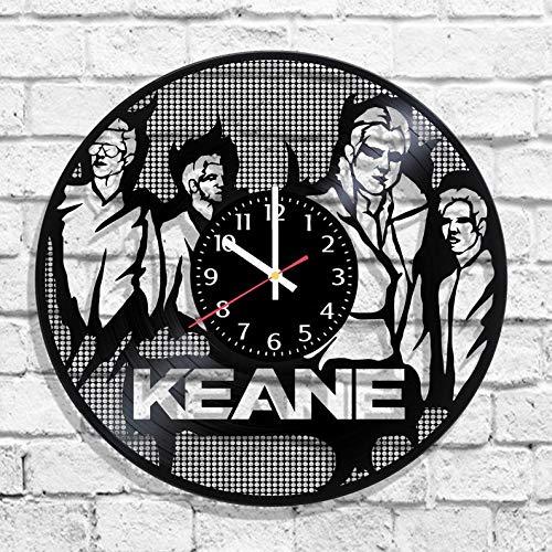 BombStudio Keane Vinyl Record Wall Clock, Keane Handmade for Kitchen, Office, Bedroom. Keane Ideal Wall Poster