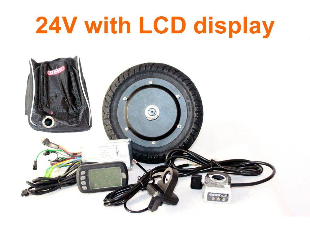 36ボルト350ワット8インチ電動スクーターブラシレスハブモーターキット缶付き液晶ディスプレイ呉興スロットルdiy電動スクーター町7 xl B078SSQ7JT Parent 24V LCD