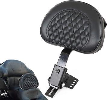 AUFER Black Adjustable Plug-in Driver Rider Backrest Custom Made Fit for Touring Models Road King Street Glide Road Glide Electra Glide 1997-2020