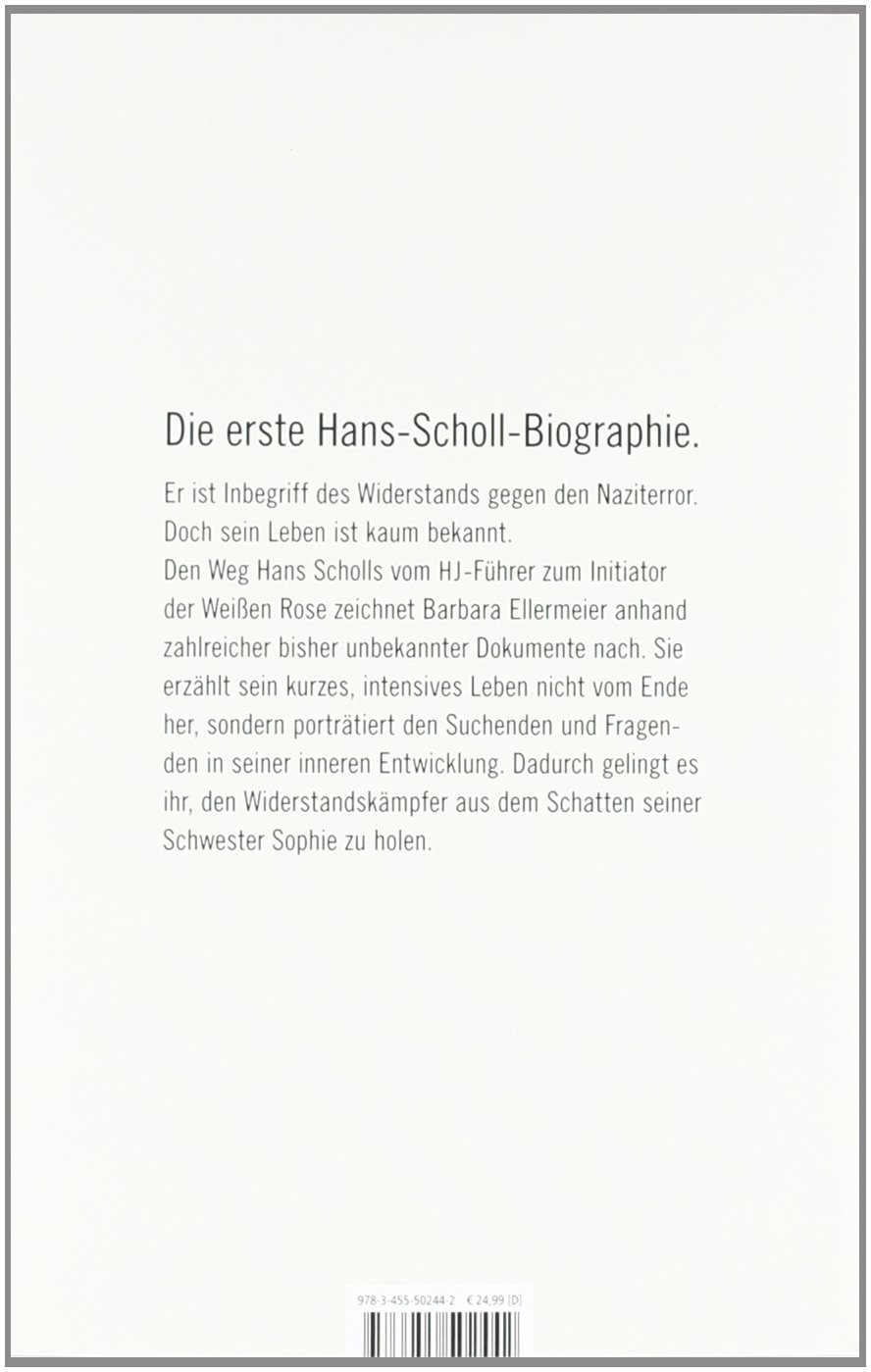 Hans Scholl: 9783455502442: Amazon.com: Books