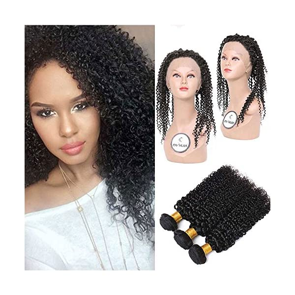 Fashijia 3b 3c Kinky Curly Brazilian Virgin Hair 360 Frontal With