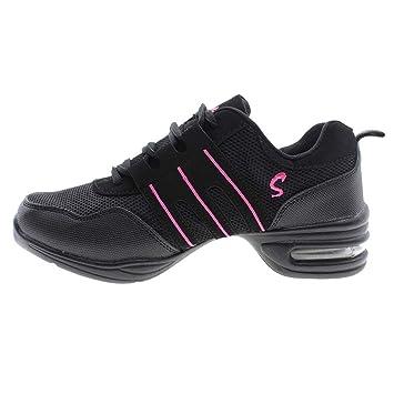 Mujer Ligero y Transpirable modernos zapatos de baile para jazz Dance –  Zapatillas de deporte negro 0413bbd8f72