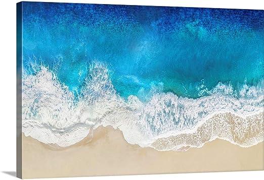 Blue Ocean Wave Beach CANVAS WALL ART SINGLE Picture Print