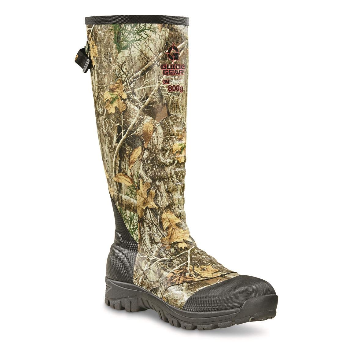 Guide Gear Men's Ankle Fit Insulated Rubber Boots, 800-gram, Realtree Edge, 11D (Medium) by Guide Gear